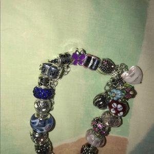 6b7920713 Pandora Jewelry | Genuine Bracelet With 20 Generic Charms | Poshmark